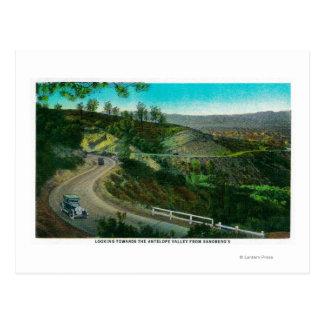 Carte Postale Regard vers la vallée d'antilope de Sandberg