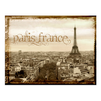 Carte Postale regard vintage de Paris France