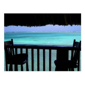 Carte Postale regardant fixement le récif, Belize