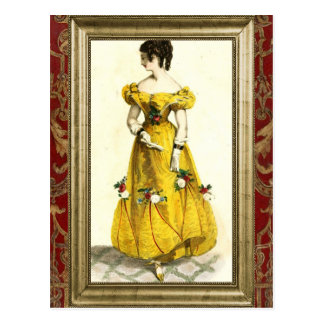 Carte Postale Regency Fashion - Yellow