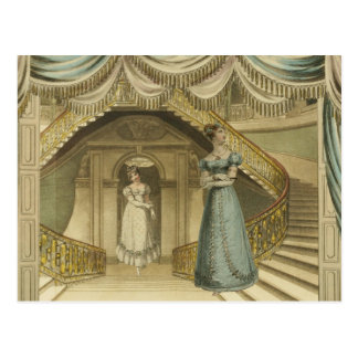 Carte Postale Regency Ladies on the stairs