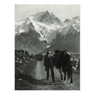 Carte Postale Région vintage de la Suisse Jungfrau