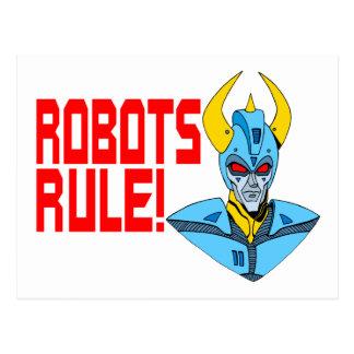 Carte Postale Règle de robots