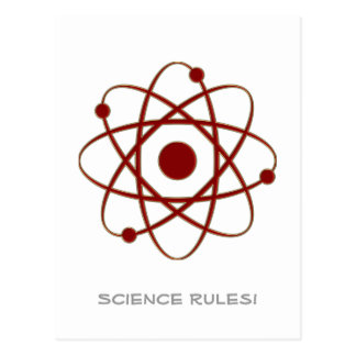Carte Postale Règles de la Science ! - Atome (005a)