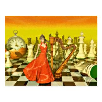 Carte Postale Reine d'échecs