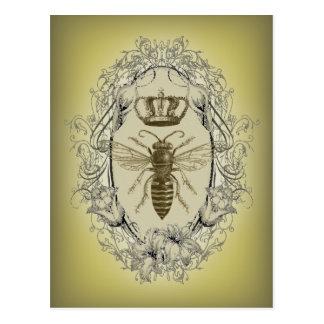 Carte Postale reine des abeilles chic de couronne de victorian