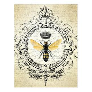 Carte Postale Reine des abeilles française vintage moderne