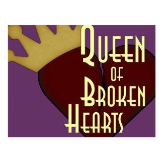 Carte Postale Reine des coeurs brisés