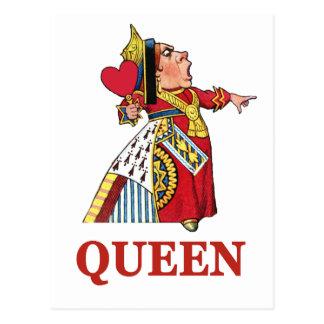 Carte Postale Reine des coeurs d'Alice au pays des merveilles
