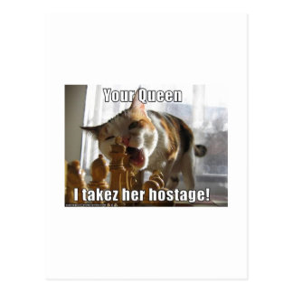 Carte Postale Reine d'otage