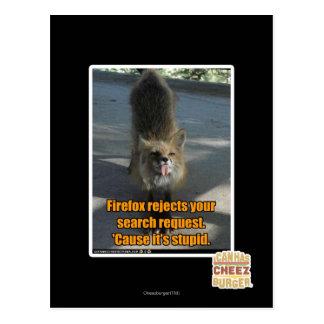Carte Postale Rejets de Firefox