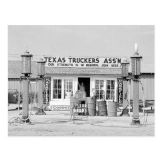 Carte Postale Relais routier du Texas, 1939