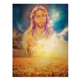 Carte postale religieuse sainte de bénédiction de