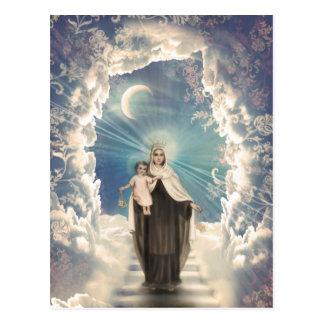 Carte postale religieuse sainte d'escaliers de