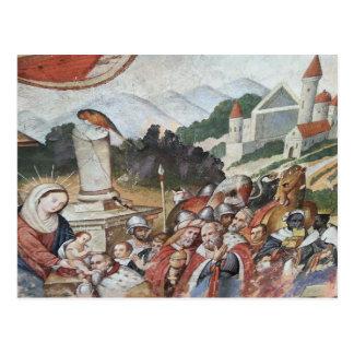 Carte postale religieuse vintage d'art