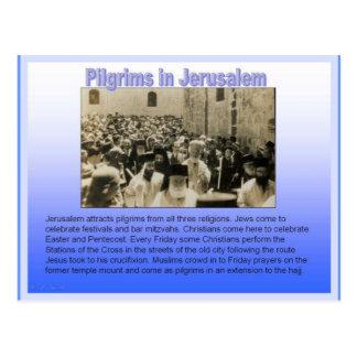 Carte Postale Religion, pèlerins à Jérusalem
