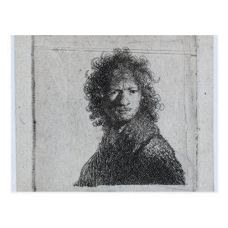 Carte Postale Rembrandt : Autoportrait, fronçant les sourcils