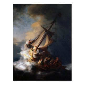 Carte Postale Rembrandt la tempête sur la mer de la Galilée