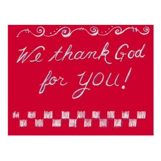 Carte Postale Remerciez Dieu 4 U