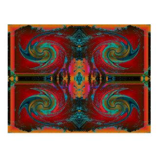 Carte Postale remous rouge de cosmos