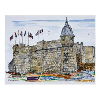 Carte Postale Remparts et porte de Concarneau | la Bretagne,