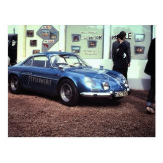 Carte Postale Renault alpin à Le Mans 1968