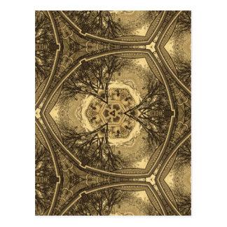 Carte Postale Rendu de kaléidoscope d'une photo de mon