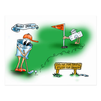 Carte Postale Renflouement ouvert - golf