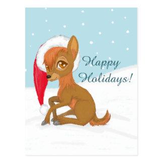 Carte Postale Renne de Noël de bébé