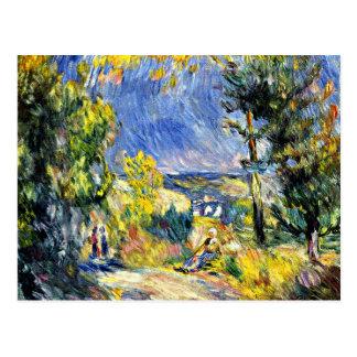 Carte Postale Renoir - vue près d'Antibes