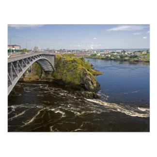 Carte Postale Renverser tombe sur la rivière de St John au St