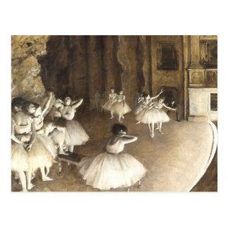 Carte Postale Répétition de ballet d'Edgar Degas  