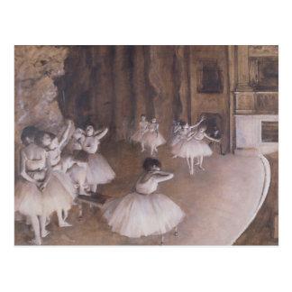 Carte Postale Répétition de ballet d'Edgar Degas | sur l'étape,