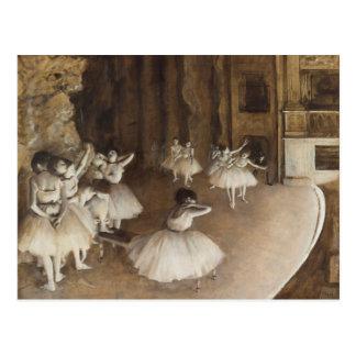 Carte Postale Répétition de ballet sur l'étape | Edgar Degas