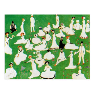 Carte Postale Repos de Kazimir Malevich-. Société dans des
