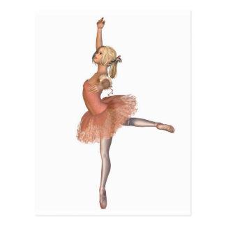 Carte Postale Représentation de ballet - pose d'attitude