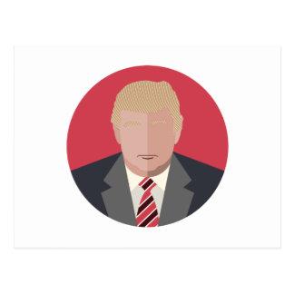 Carte Postale Représentation de graphique de Donald Trump