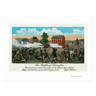 Carte Postale Représentation de la bataille de Lexington