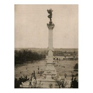 Carte Postale Reproduction 1926 de la France de colonne de