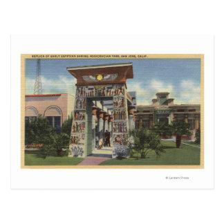 Carte Postale Reproduction de tombeau égyptien, parc de