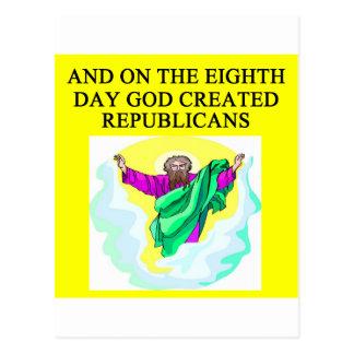 Carte Postale républicains creeated par dieu