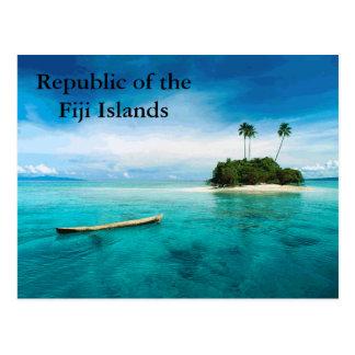Carte Postale République du postard des îles fidji