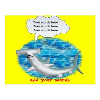Carte Postale Requin de poisson-marteau parlant