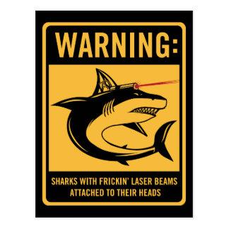 Carte Postale requins avec des rayons laser de frickin joints