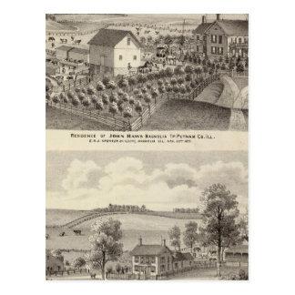 Carte Postale Résidence et résidence de ferme dans la magnolia