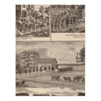 Carte Postale Résidence et université occidentale dans