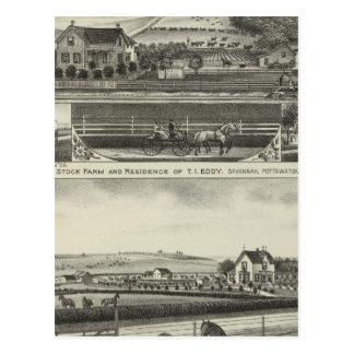 Carte Postale Résidences courantes de Farmand de la savane, le