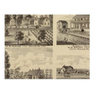 Carte Postale Résidences dans Linn et Desoto, Dallas Co, Iowa