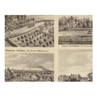 Carte Postale Résidences de Caldwell, de Fox, de Hargis et de