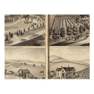 Carte Postale Résidences de John Turner, C.A. Shelton, H Wilsey